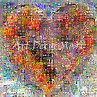 Heart Collage - CANVAS OR PRINT WALL ART