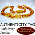 Golden Honey BALTIC AMBER Baby Teething NECKLACE AGbA® Certified