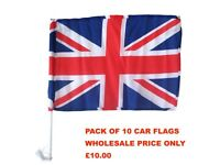 "10 Union Jack Car Flag 11""x16""British Queens Diamond Jubilee London Olympics"