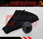 JDM 96 7 HONDA DEL SOL SCREW-ON TYPE 5-SPEED BLUE BLK LEATHER SHIFT KNOB W/ BOOT