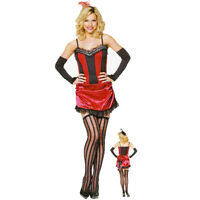 4PC BURLESQUE BABE MOULIN ROUGE FANCY DRESS OUTFIT COSTUME 8 10 12 14 16 18,,,