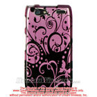 LG MOTION 4G / MS 770 CRYSTAL CASE PURPLE WITH BLACK SWIRL