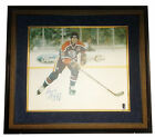 "Wayne Gretzky Signed 20"" x 24"" Canvas Framed Picture with COA from WGA 96/99"
