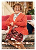 Personalised A5 Mrs Browns Boys Birthday Card Any Relation Age Brother Son Mum