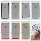 Contrast Color TPU Silicone Gel & ABS Soft Bumper Case Cover for iPhone 5 5G