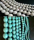Loose Turquoise & White Howlite Gemstone Beads - size 4mm to 22mm