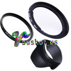 58mm lens hood+ lens filter+adapter ring set For Canon PowerShot G1X