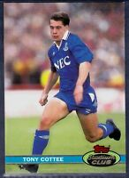TOPPS 1992 STADIUM CLUB-#153-EVERTON & ENGLAND-WEST HAM UNITED-TONY COTTEE