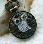 Unusual gift for her Pocket Watch Necklace Vintage Quirky Kitsch Owl Retro 1940
