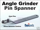 Pin Spanner fit Angle Grinder 20mm - 4mm pins 24015