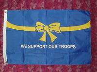 We Support Our Troops blue Flag 3x2 Afghanistan Army Armed Forces Day Navy RAF