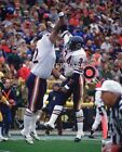Walter Payton & William Refrigerator Perry Hi-5 8x10 Color Photo Chicago Bears