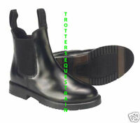 child size 1 horse riding jodhpur/jodphur boots black leather