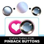 """1000 2-1/4"""" Button parts for Pin Maker / Badge Machine pinback parts lot of 1000"""