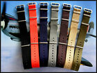 20mm Black NATO G10 Premium nylon Ballistic Airforce watch band Bonded IW SUISSE