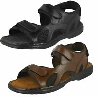 Mens Black/Brown Leather Sandals B-207794  UK Sizes 6 - 11