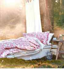 Ikea Emelina Ros Duvet Quilt Cover 2/3pc set Twin King Lovely Pink Roses Floral