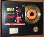 Elvis Presley - Burning Love - 24k Gold Record Display - Free Shipping USA