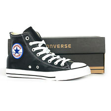 CONVERSE CHUCK TAYLOR ALL STAR LEATHER HI BLACK 1S581