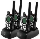 4 Motorola MR350 MR560 FRS GMRS 2WAY Radio Walkie Talkie Ni-MH Weather VOX Black