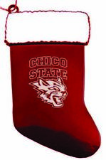 California State University, Chico - Chirstmas Holiday Stocking Ornament - Red
