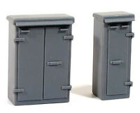Wills SS85 - Lineside Relay Boxes 'Set 1' 00 Gauge Plastic Kit - 1st Class Post