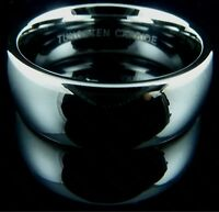 Mens Tungsten Carbide Ring Plain Mirrored Wedding Engagement Band 8mm