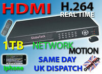 16 CHANNEL 16CH D1 1000GB NETWORK HD HDMI VGA DVR MACHINE IPHONE/ANDROID VIEWING