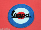 VESPA SCOOTER SEW/IRON ON PATCH:- SMALL BLUE MOD TARGET SIGNATURE RAF ROUNDEL