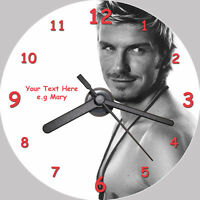 David Beckham CD Clock - with FREE stand (personalised)