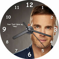 Gary Barlow CD Clock - with FREE stand (personalised)