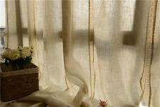 French Country Style Cotton Linen Cotton Crochet Lace Curtain F021
