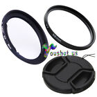 58mm lens cap+ lens filter+adapter ring set For Canon PowerShot G1X