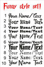 CUSTOM Personalize Your Name Text FUNNY STYLE decal sticker vinyl wall art FS1