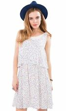 Hidden Fashion Womens Ladies Multi Colour Fleck Print Tiered Swing Cami Dresses