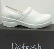 Nurse Shoes Refresh Comfort Clog Exquisite White Color Full Heel Coverage 5.5-11