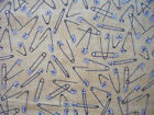 SAFETY PINS SEWING BEIGE COTTON FABRIC BTHY OOP