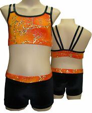 Size 16 Girls - Leotard Gymnastic Dance -  Crop Top and Shorts Set - Girls sizes