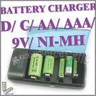 D C AA AAA 9V PP3 Ni MH Cd BATTERY RECHARGEABLE CHARGER