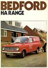 Bedford HA 110 130 Van 1975-76 UK Market Sales Brochure Vauxhall Viva