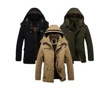 Hot Mens Winter Jackets Military Parka Outerwear Warm Fur lined Long Coat Hooded
