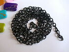 50 x 26'' 65cm Black Plated Curb Necklace Chains Jewellery Making / Findings