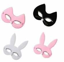 Cat Kitten Bunny Rabbit Fabric Face Masquerade Mask Fancy Dress Hen Party