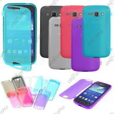 Housse Etui Coque Portefeuille Silicone Gel TPU Samsung Galaxy Ace 3 S7270 +Film
