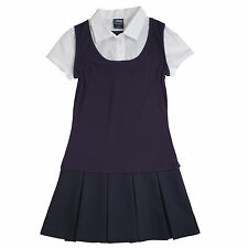 French Toast School Uniforms 2-in-1 Pleated Dress Girls