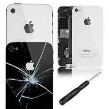 Glass Replacement Back for Apple iPhone 4/4S Rear Battery Cover FREE SCREWDRIVER