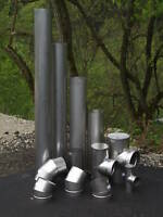 6 X 36'' Long Stainless Steel Stove Pipe (Liner)