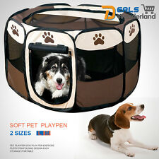 8 Panel Portable Puppy Dog Pet Cat Playpen Crate Cage Kennel Tent Play Pen