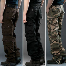 2015 New Casual Mens Military Army Cargo Camo Combat Work Trousers Pants pockets