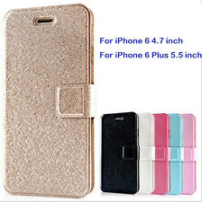 Luxury Unique Wallet Silk Leather Stand Flip Case Cover for Apple iPhone 6S Plus